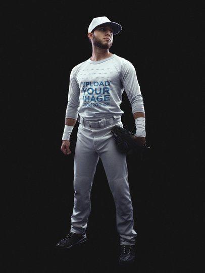Baseball Uniform Designer - Standing Baseball Player a15990