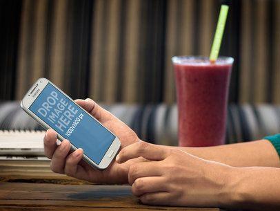 Samsung Galaxy 4 White Portrait On Woman Hands