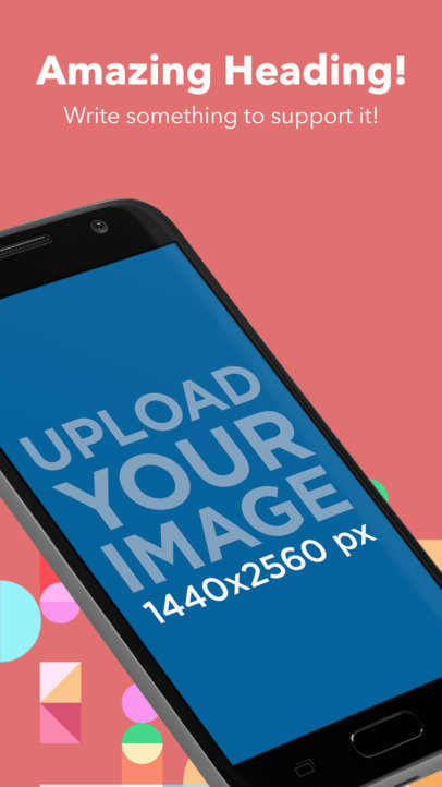Floating Samsung Galaxy in Portrait Position Android Screenshot Maker a16014