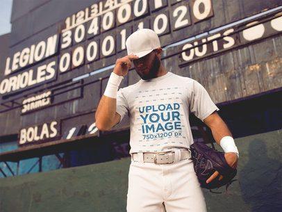 Baseball Uniform Designer - Pitcher Near Scoreboard a16342