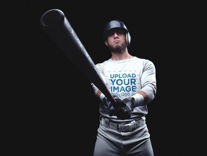 Baseball Uniform Designer - Player Showing the Bat a15993