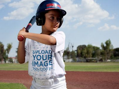 Baseball Uniform Designer - Batter Kid in the Field a16366