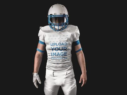 Football Jersey Generator - Man Standing with Helmet On a15894