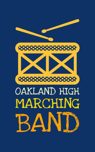 Marching Band T-Shirt Template a201