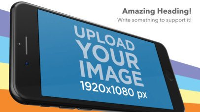 Angled Landscape iPhone 7 Appstore Screenshot Maker a16505