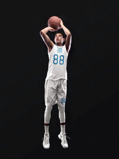 Basketball Jersey Maker - Teen Boy Shooting the Basketball 16496