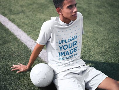 Custom Soccer Jerseys - Teen Chilling at the Field After Training a16478