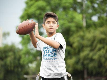 Custom Football Jerseys - Kid Throwing the Ball a16477