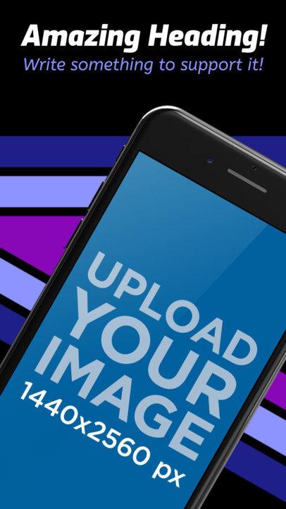 Angled iPhone 7 App Store Screenshot Maker a16457