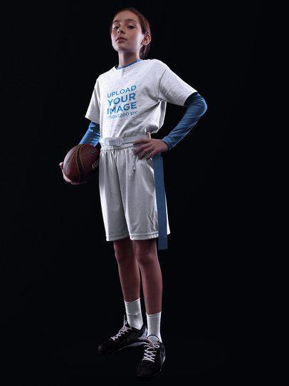Custom Football Jerseys - Teen Girl Looking Down a16527