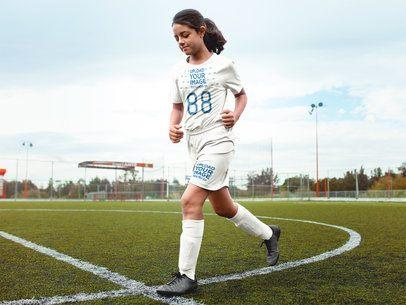 Custom Soccer Jerseys - Girl Running for a Match a16547