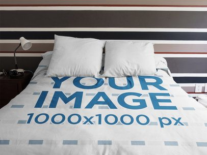 Duvet Cover Mockup at a Boy Room a16402