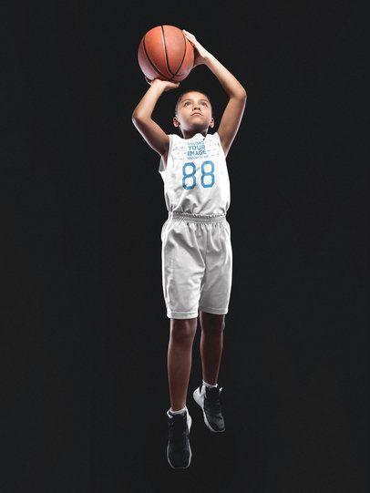 Basketball Jersey Maker - Girl Shooting the Ball a16590