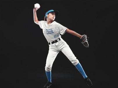 Custom Softball Jerseys - Girl Throwing the Ball a16696