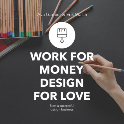 Book Cover Maker - Simple Graphic and Text a407