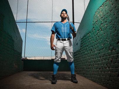 Baseball Uniform Builder - Batter Standing at the Stadium a16775