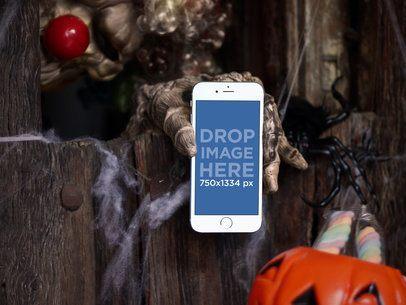 iPhone 7 Mockup on Halloween