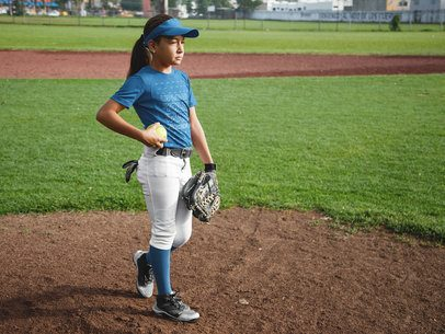 Custom Softball Jerseys - Girl at the Field a16810