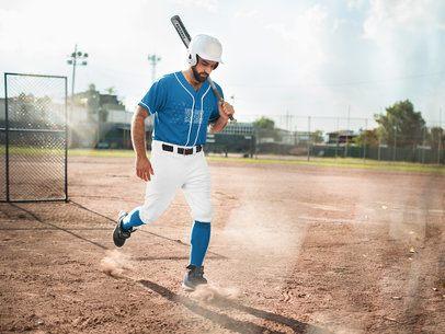 Baseball Uniform Builder - Tired Man After Playing  a16769