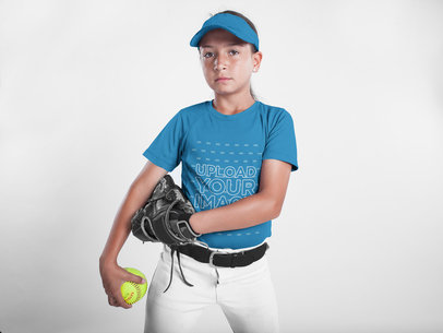 Custom Softball Jerseys - Girl Looking to the Camera a16814