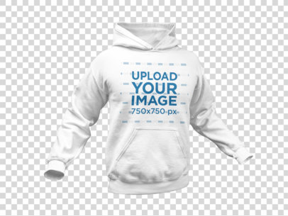 Men's Pullover Hoodie Invisible Model Mockup a10659