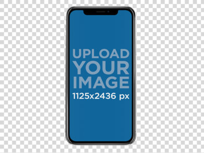 iPhone X Mockup Against Transparent Background a17152