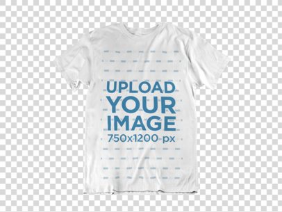 Clothing Mockup of a T-Shirt Over a Flat Backdrop a17240