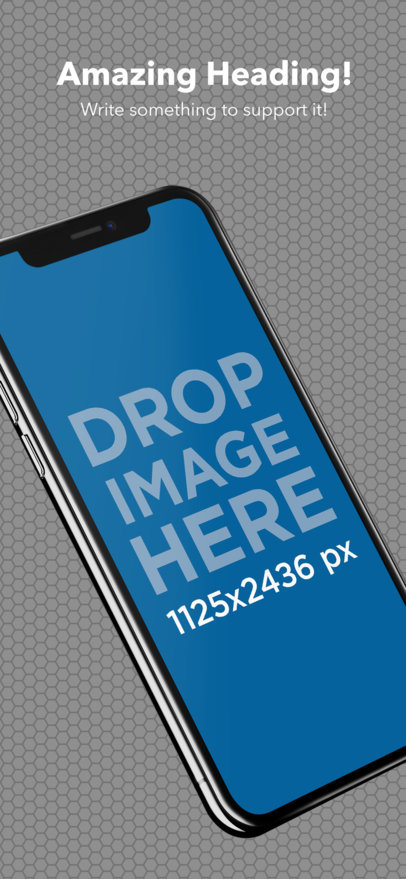 Angled iPhone X App Store Screenshot Maker a17413
