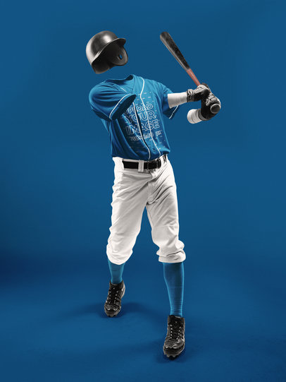 Baseball Uniform Builder - Invisible Man Swinging the Bat a17568