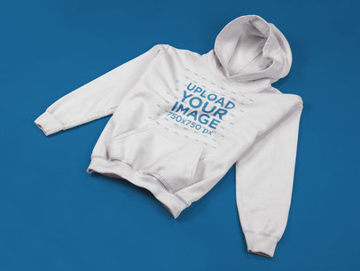 Pulllover Hoodie Template Lying on a Flat Surface a17738