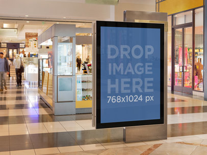 Squared Ad On A Mall