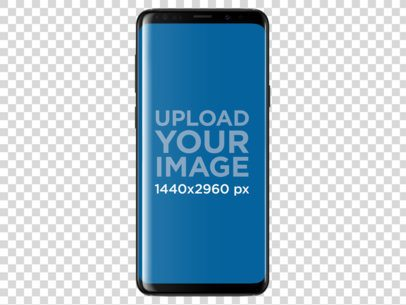 Galaxy S9 Plus Mockup Template Against a Transparent Background a19507