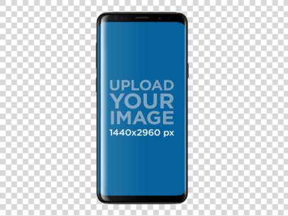 Galaxy S9 Mockup Template Against Transparent Background a19508