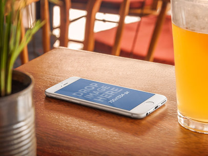 iPhone 6 With A Beer