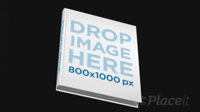 Hardcover Book Mockup Floating in a Dark Room a16106b