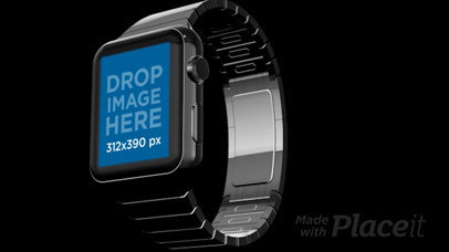Video of a Floating Smartwatch in a Black Room a16042b