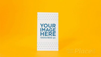 Flyer Standing on a Yellow Environment While Its Shadow Moves in Stop Motion a13732