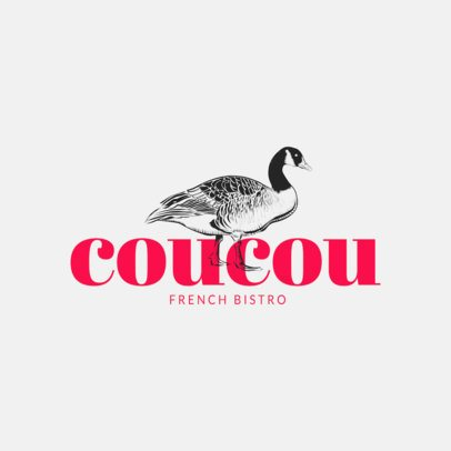 Restaurant Logo Maker with Stylish Animal Graphics 973