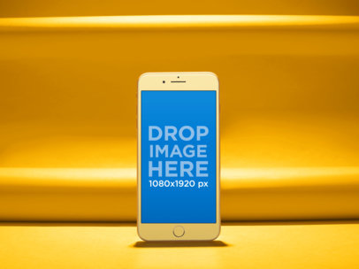 iPhone Mockup Standing on a Colorful Place a19301