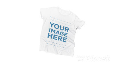 T-Shirt and a Girl Against a White Background in Stop Motion a13241