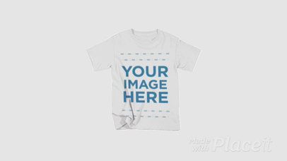 T-Shirt Shrinking Over a White Surface in Stop Motion a13272