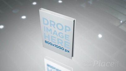 Video of a Hard Cover Book Floating Inside a White Room a16348c