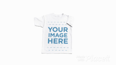 Round Neck Tee Video Rolling Over a White Surface a13225