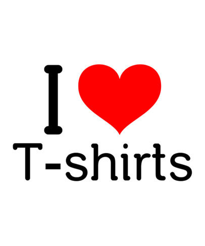 I Heart T-Shirt Template a27