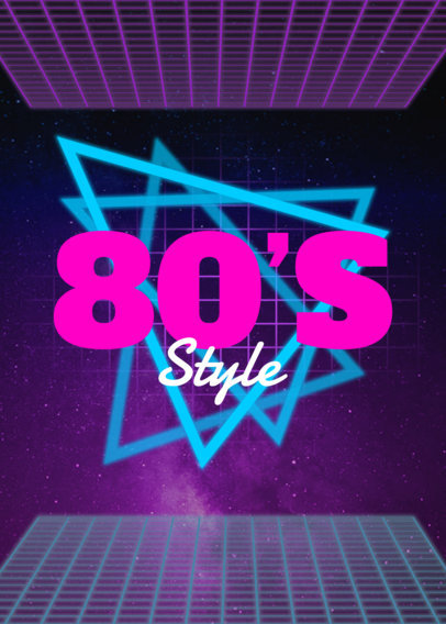 80's T-Shirt Design Template 21