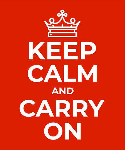 Keep Calm Tshirt Template a26