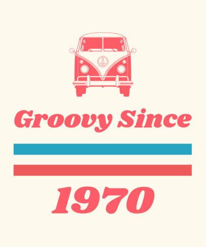 70s Tshirt Template 1191