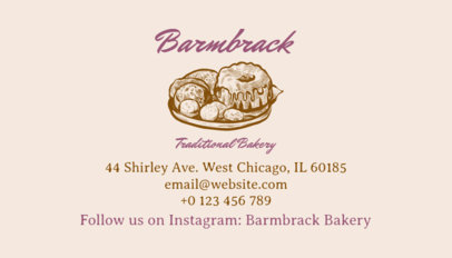 Bakery Business Card Template a65