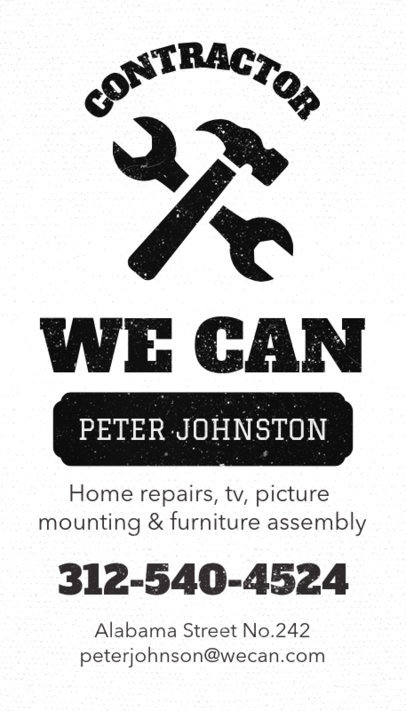 Handyman Business Card Maker a82