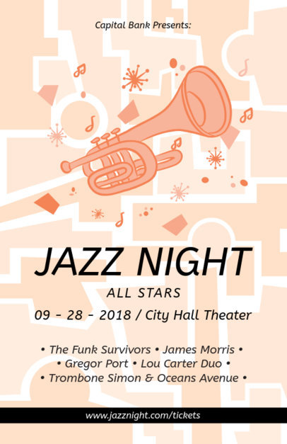 Online Flyer Maker for a Jazzy Night 83